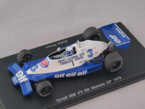 SPARK S1731 S1731 S1731 - TYRRELL 008 n° 3 5ème GP F1 Monaco 1978 Pironi 1 43 f37ca3