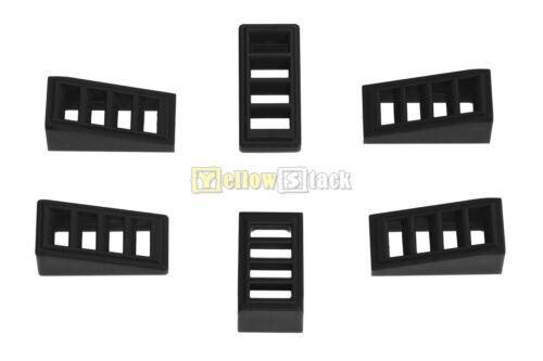 LEGO Bau- & Konstruktionsspielzeug 6x LEGO® 61409 Gitter-Dachstein/Schrägstein 18° 2x1x2/3 schwarz black NEU LEGO Bausteine & Bauzubehör