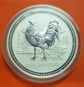 AUSTRALIA-10-ONZAS-2005-LUNAR-SERIE-YEAR-OF-THE-ROOSTER-SILVER-10-OZ-MINT