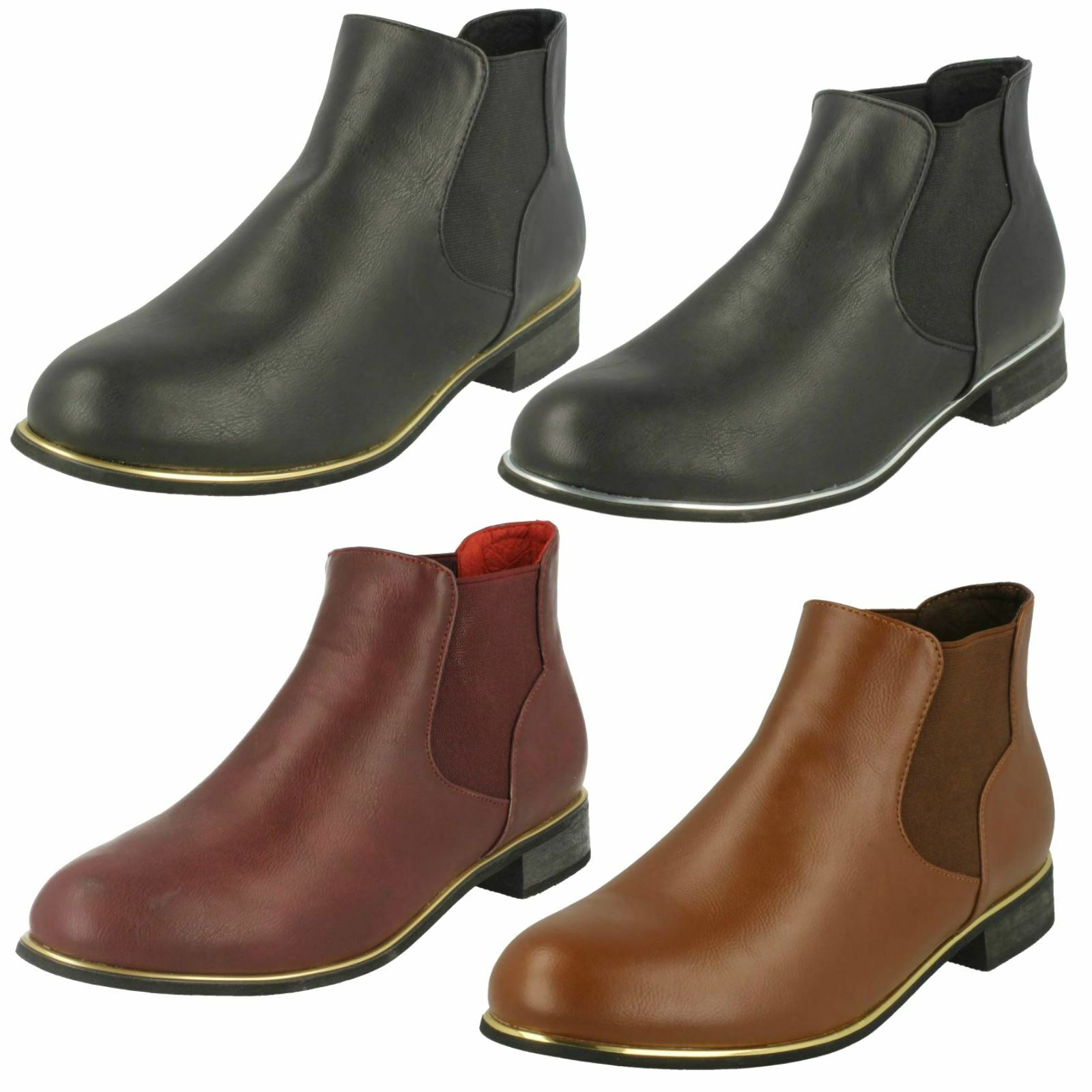 Spot On Ladies Chelsea Style Ankle Boots