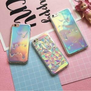 premium selection fd6d3 7c5cd Details about New Holographic 3D Melted Diamond Cover Case for iPhone8  8Plus 5 6 6s 6Plus 7 7P