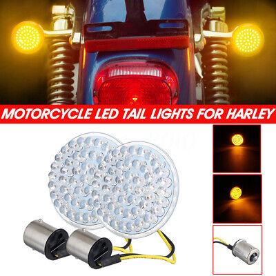 yifengshun 2psc 1156 motocicleta Harley LED luz de se/ñal de giro trasera insertada estilo bala luz trasera de freno para Touring Sportster luz delantera trasera luz de giro(blanco)