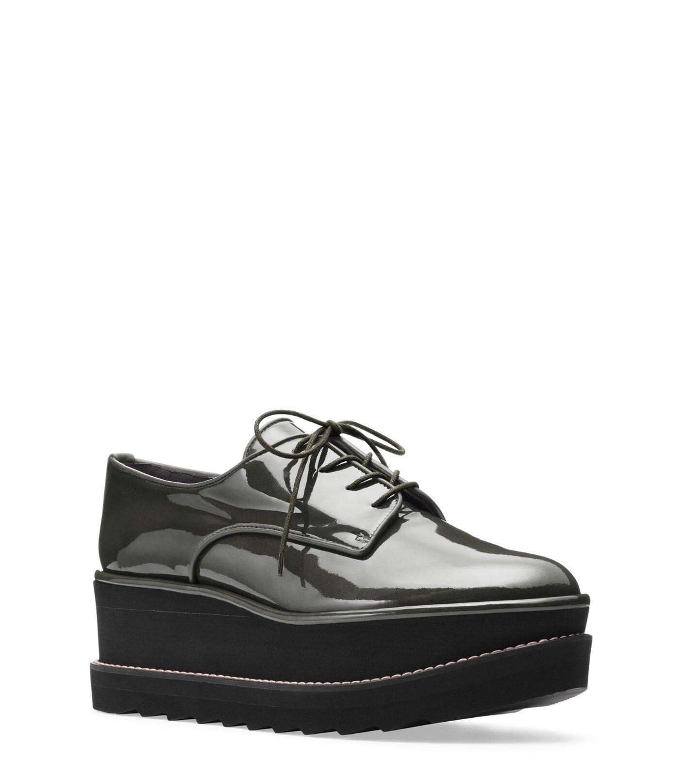 598 Auténtico Raro Stuart zapatos Weitzman para mujer zapatos Stuart oxfords Metálico Kent plataforma 8a409d