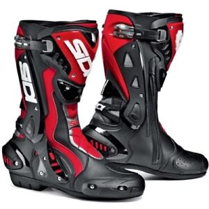 Sidi-ST-Motorcycle-Motorbike-Leather-Textile-Sports-Race-Track-Boots-Black-Red