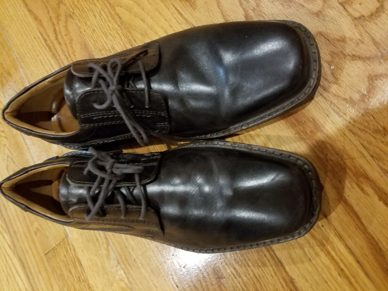 New Dark Brown Genuine Leather Ecco shoes Size (EUR) 43