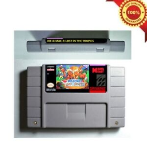 Joe-amp-Mac-2-Lost-in-the-Tropics-SNES-Super-NES-Nintendo-039-94-Joe-and-Mac-II