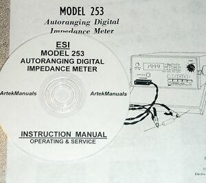 Electro scientific esi 253 digital impedance meter operating and.