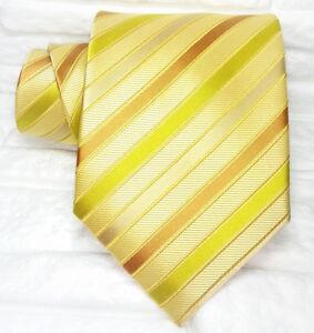 Cravatta-Uomo-100-seta-Made-in-Italy-diplomatica-arancione-oro-gialla-business