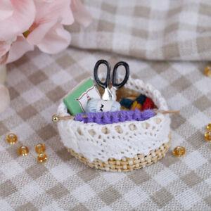 1-12-Puppenhaus-Miniatur-Wolle-Strickwerkzeug-Puppenhaus-Zubeh-4H