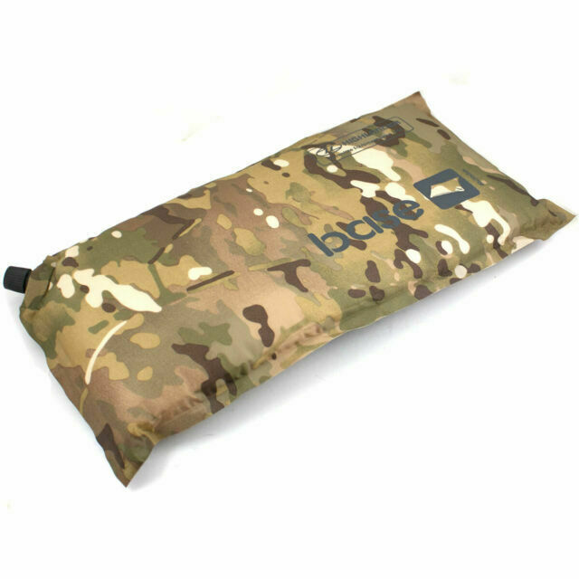 Highlander Self Inflating Air Camping Army Combat Military Travel Pillow Camo