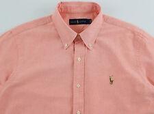 Men's RALPH LAUREN Light Orange Oxford Cotton Shirt 3XLT 3XT 3LT NWT NEW $89+