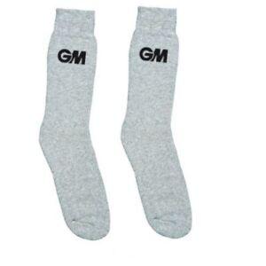 Gunn /& Moore GM Cricket Clothing Premier Socks Grey Padded Sports Fabric