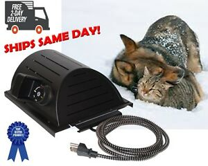 Akoma-Hound-Heater-Dog-House-Furnace-Deluxe-w-Cord-Protector-amp-Mounting-Template