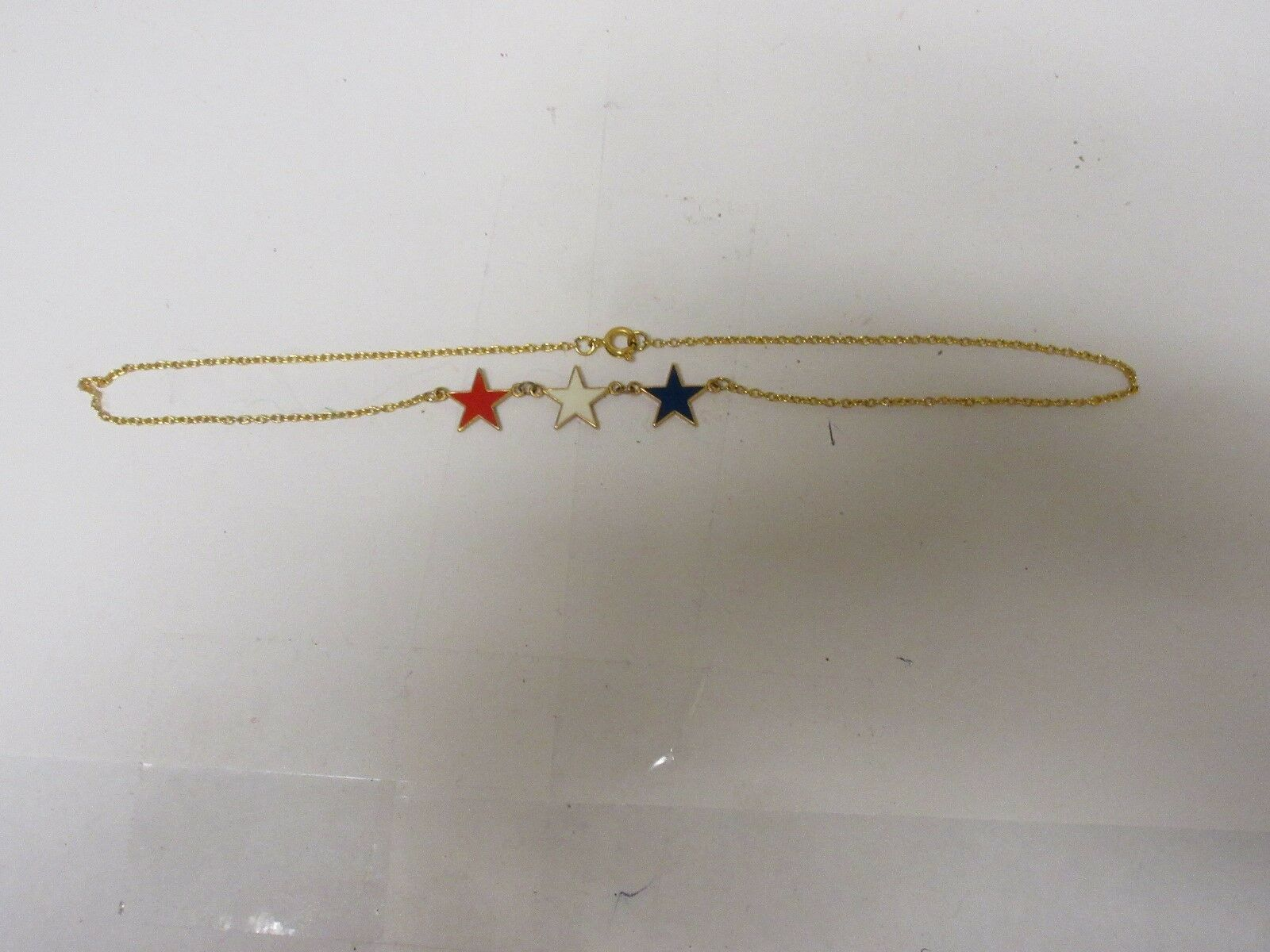 "Costume Jewelry , Star Necklace ,15"", Red / White / Blu"