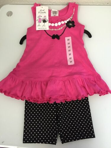 New Girl Friends By Anita G 2 PC Top And Capri Set Girls Toddler 3T 4T 5T 6