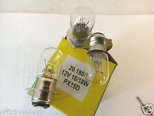 lampadina 12v-18/18w BIANCA biluce ANABAGLIANTE/ABBAGLIANTE due filamenti PX15D
