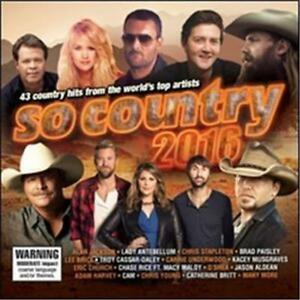 Details about SO COUNTRY 2016 VARIOUS ARTISTS 2 CD NEW
