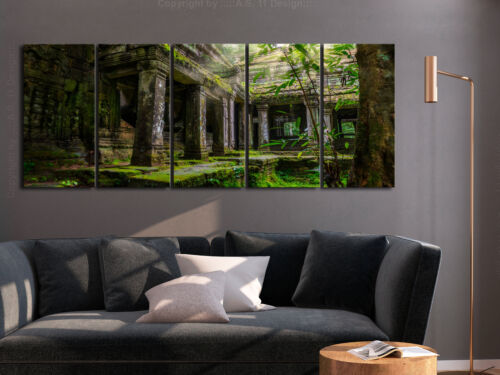TEMPLE GREEN Canvas Print Framed Wall Art Picture Photo Image d-B-0323-b-m