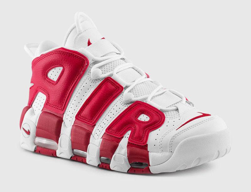 2016 Nike Air More Uptempo Gym Red OG Size 13. 414962-100 Pippen white black