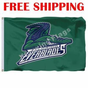 Florida-Everblades-Logo-Flag-ECHL-Hockey-League-2018-Banner-3X5-ft