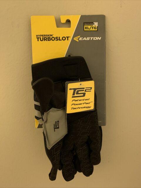 Easton Turboslot Hyperskin TS2  gloves Youth  Extra Large Black & Gray