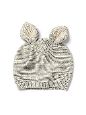 Bunny Rabbit Sweater Hat GAP Baby Toddler Boy Girls 18-24 Months Gray Easter