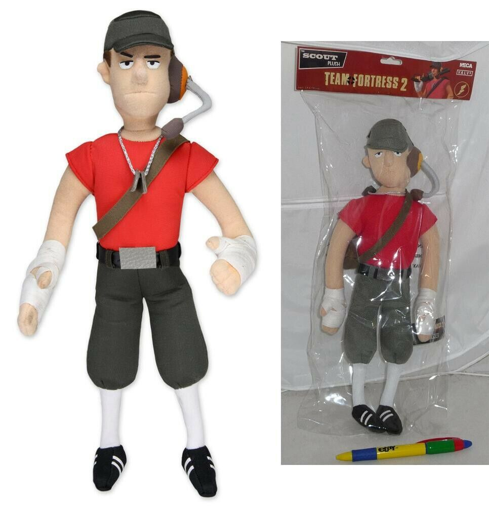 TEAM FORTRESS 2 Soft toy THE SCOUT Large 35m Original NECA USA Plush BIG NEW