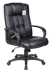 Black-High-Back-Swivel-Executive-PU-Leather-Computer-Office-Chair