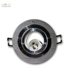 GU10 Proyector Empotrado, Foco Empotrable Rendondo,Aluminio cepillado,230V