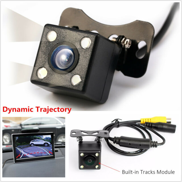 Parts & Accessories Car Video 1x 4led Ir Night Vision Car Reversing Rear View Dynamic Trajectory Camera Safety