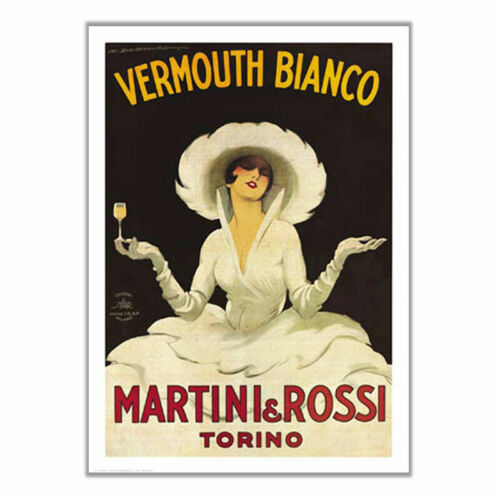 VERMOUTH BIANCO Martini /& Rossi Torino Vintage Style Poster Print Choose Size