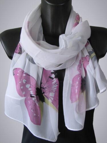 Tuch Scarf Halstuch Loop Chiffonschal Sommer Schal extra leicht Blumen Print