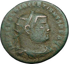 Diocletian receiving Victory from Jupiter 295AD Ancient Roman Coin   i34057
