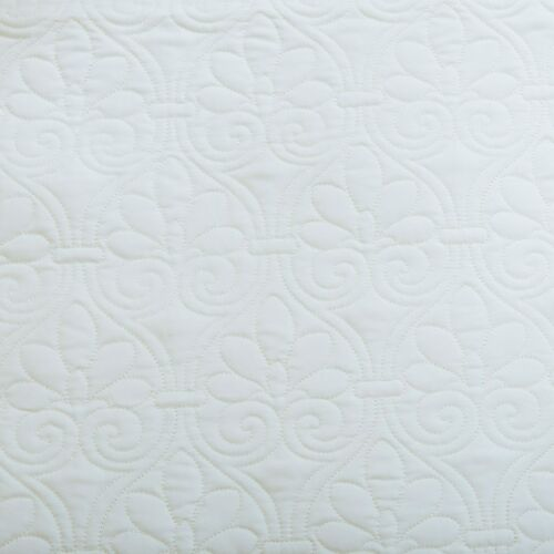 LUXURY QUILT MATELASSE TILE BEDDING COTTAGE WHITE 6pc DAYBED COVERLET SET