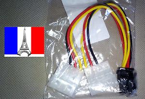 Cable-connecteur-alim-PCI-E-6-pin-broche-femelle-vers-Y-IDE-Molex-male-x3
