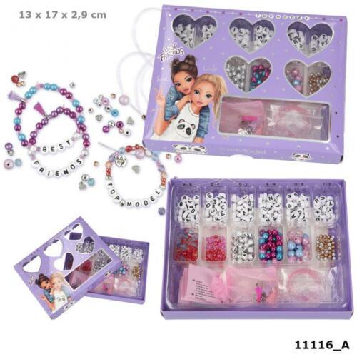 Topmodel Perlen Set Armband Basteln Verschiedene Farben Deko Buchstaben Namen