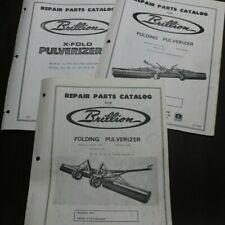 3 Brillion Repair Parts Catalog Manual X Fold Folding Pulverizer Covers 9 Models