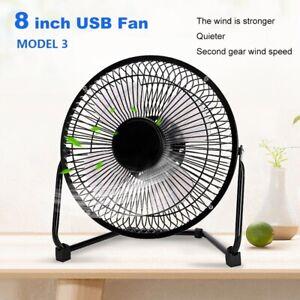 USB-Desktop-Fan-Portable-Fan-Small-Quiet-Table-Fan-USB-Powered-Metal-Frame