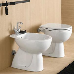 Dettagli su Pozzi Ginori sanitari per bagno vaso + bidet e wc + copriwc  offerta