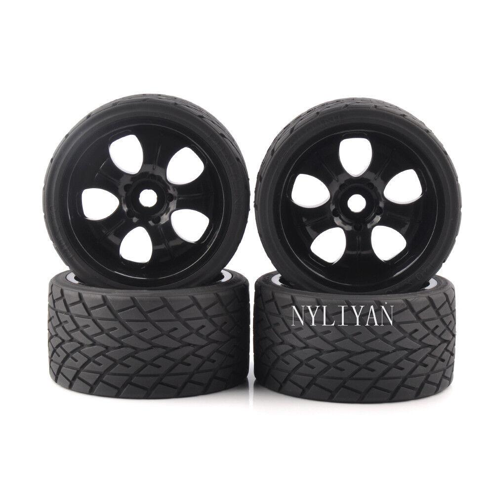 profitto zero RC 4PCS 4PCS 4PCS Ruedas Tires 17mm Hex For HSP HPI On-strada 1 8 greefoot modello auto 26411  fino al 70% di sconto