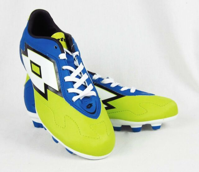 b19fd4e36 New Men's Lotto Zhero Gravity V 700 TX Soccer Cleaats Blue and Green Size 6