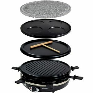 5 in 1 Raclette Crepemaker Grill Pancakemaker Natursteinplatte Syntrox Germany