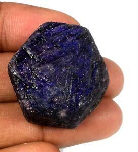 Hexagon 200-250 Ct Star Blue Sapphire Gemstone Rough African Natural 1 Piece