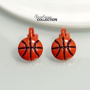 Das Bild wird geladen Ohrringe-Clips-Chips-klein-Balon-Korb-rot-vintage- 7e15f4dc23f7