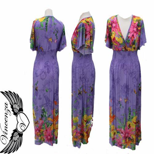 Femme Summer Boho Long Maxi Robe de Soirée Cocktail Plage Vintage Dresses UK