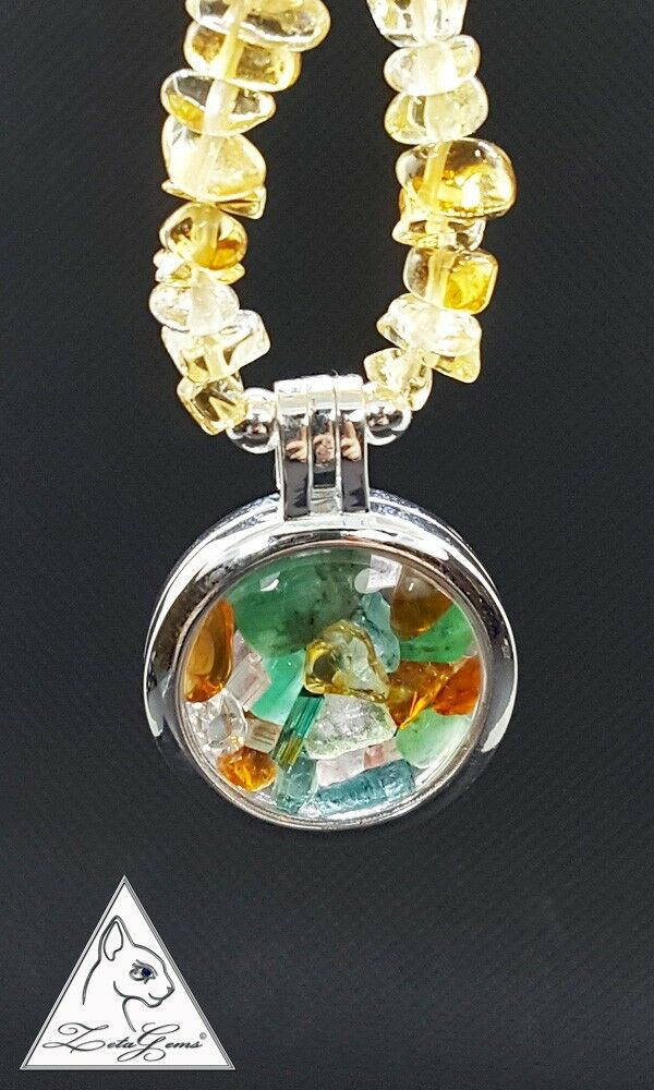 Gemini May June birthstones. Natural gems Emerald, Tourmaline, Citrine, Herkimer