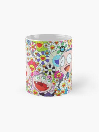 Takashi Murakami Happy Flowers Mug Pattern 11 Oz 15 Oz Mugs Murakami Smiles