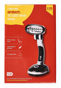 New 12 Led Bright Portable Lamp Battery Operated Desk ...