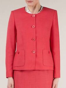 Eastex-Ladies-Formal-Pink-Round-Neck-Button-Through-Suit