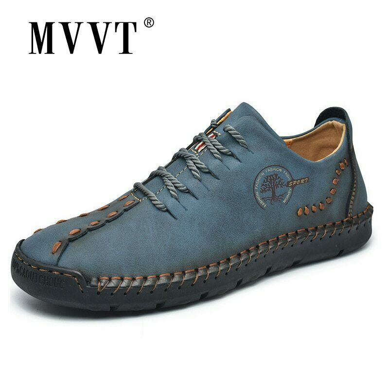 Casual Men Shoe Driving Split Leather Shoes Men Loafers Moccasins Tooling Shoes